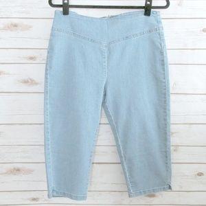 Noisy May Blue Stretch Denim High Waist Shorts